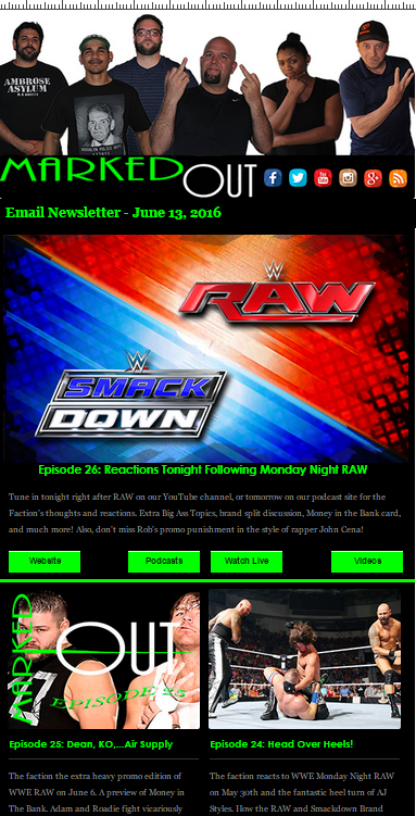 Email Newsletter Signup | Marked Out! Pro Wrestling Podcast